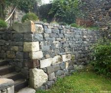 2lévation de murs en pierres sèches, Monsatier sur Gazeille, Haute-Loire